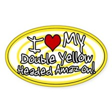 Hypno I Love My DYH Amazon Oval Sticker Ylw