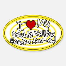 Hypno I Love My DYH Amazon Oval Sticker Ylw