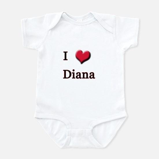 I Love (Heart) Diana Infant Bodysuit