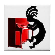 Kokopelli Piano Tile Coaster
