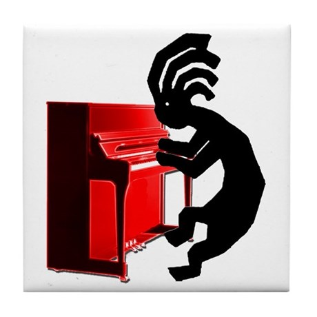 Kokopelli Piano Tile Coaster