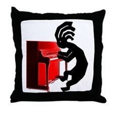 Kokopelli Piano Throw Pillow