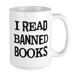 I Read Books Large Mug