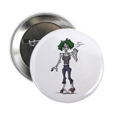 Zombie Grrl Button