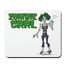 Zombie Grrl Mousepad