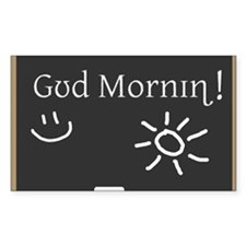 Phonetic Good Morning Rectangle Decal