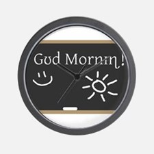 Phonetic Good Morning Wall Clock