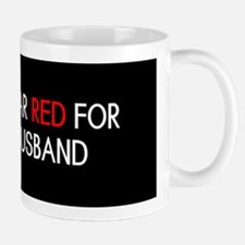 Red Ribbon: Red for my Husband Mug
