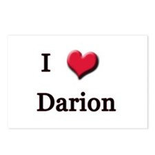 I Love (Heart) Darion Postcards (Package of 8)
