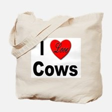 I Love Cows for Cattle Lovers Tote Bag