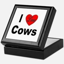 I Love Cows for Cattle Lovers Keepsake Box