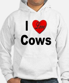 I Love Cows (Front) Hoodie