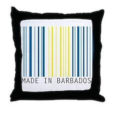 made in barbados Throw Pillow