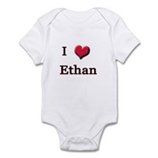 I Love (Heart) Ethan Infant Bodysuit