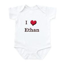 I Love (Heart) Ethan Onesie