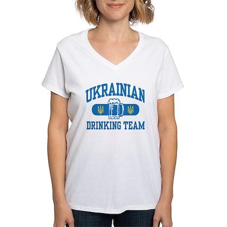 Ukrainian Drinking Team Women's V-Neck T-Shirt