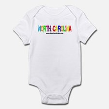 Colorful North Carolina Infant Bodysuit