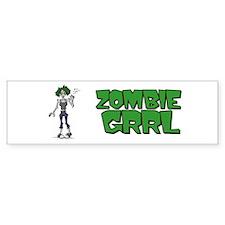 Zombie Grrl Bumper Bumper Sticker
