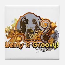Weims R Groovy! Tile Coaster
