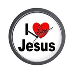 I Love Jesus Wall Clock