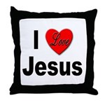 I Love Jesus Throw Pillow