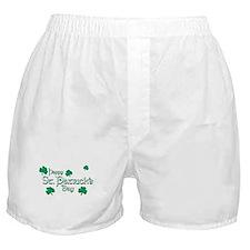Happy St. Patrick's Day Green Shamrocks Boxer Shor