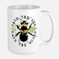 Save The Bee... Large Mug