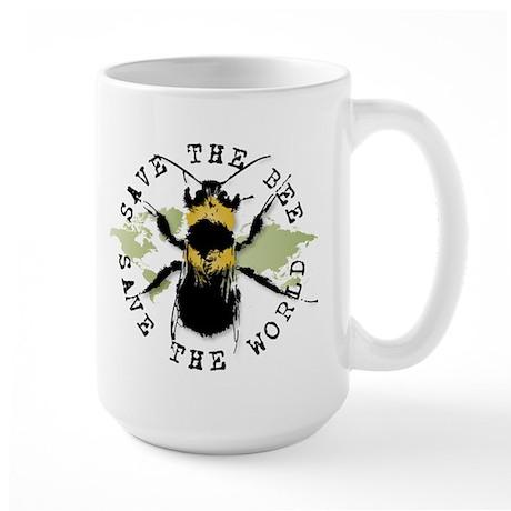 Save The Bee... Large Mug