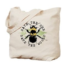 Save The Bee... Tote Bag
