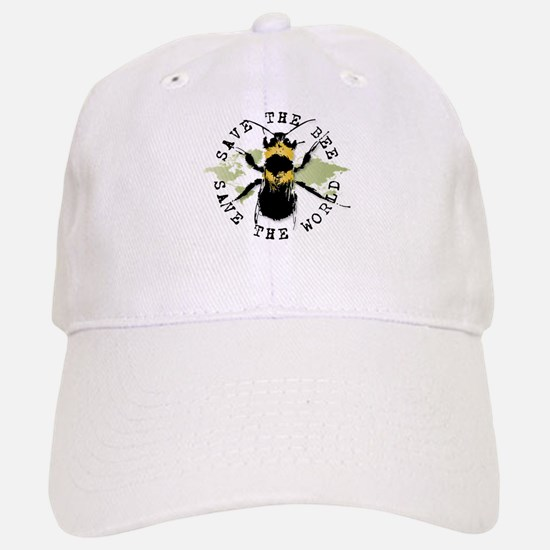 Save The Bee... Baseball Baseball Cap