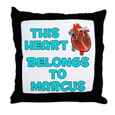 This Heart: Marcus (B) Throw Pillow