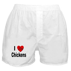 I Love Chickens Boxer Shorts