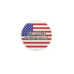 USA PROUD-President Ashamed Mini Button (100 pack)
