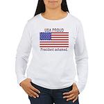 USA PROUD-President Ashamed Women's Long Sleeve T-