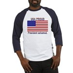 USA PROUD-President Ashamed Baseball Jersey