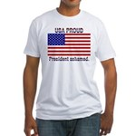 USA PROUD-President Ashamed Fitted T-Shirt