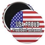 USA PROUD-President Ashamed Magnet