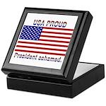 USA PROUD-President Ashamed Keepsake Box