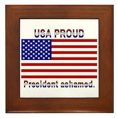 USA PROUD-President Ashamed Framed Tile