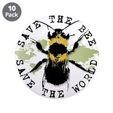 """Save The Bee... 3.5"""" Button (10 pack)"""