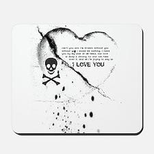 SKULL & HEART (i love you) Mousepad