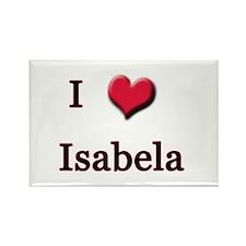 I Love (Heart) Isabela Rectangle Magnet