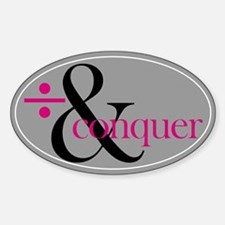 / & Conquer Oval Decal