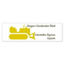 Hitchhiker - Vogon Construction - Bumper Sticker