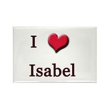 I Love (Heart) Isabel Rectangle Magnet