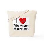 I Love Morgan Horses Tote Bag