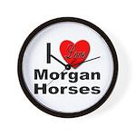 I Love Morgan Horses Wall Clock