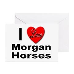I Love Morgan Horses Greeting Cards (Pk of 10)