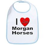 I Love Morgan Horses Bib