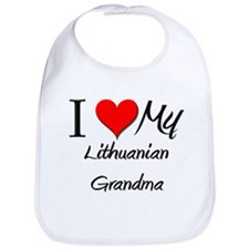 I Heart My Lithuanian Grandma Bib